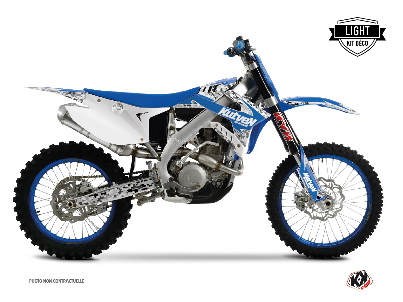 TM MX 450 FI Dirt Bike Predator Graphic Kit Blue LIGHT