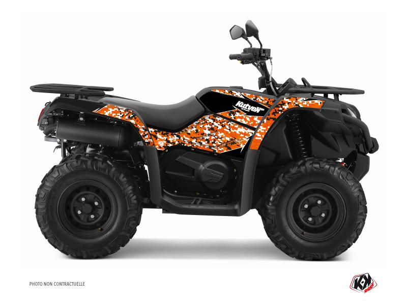 CF MOTO CFORCE 520 S ATV Predator Graphic Kit Black Orange