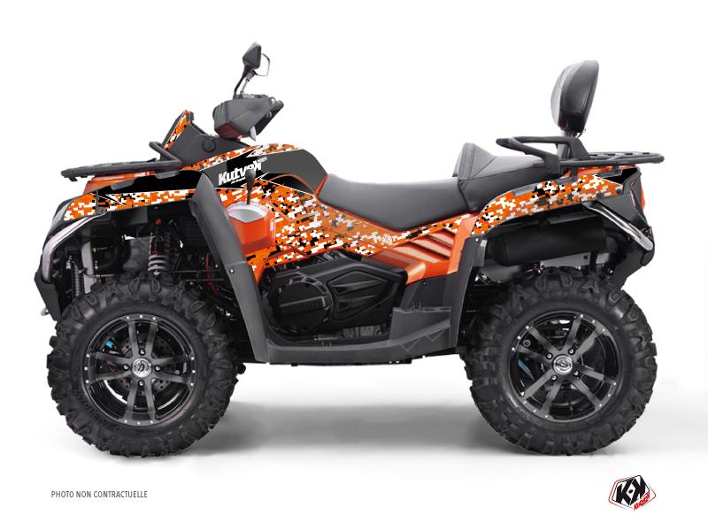 CF MOTO CFORCE 800 S ATV Predator Graphic Kit Black Orange