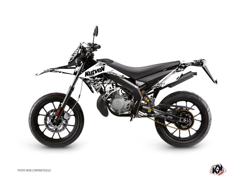 Derbi DRD Xtreme 50cc Predator Graphic Kit White