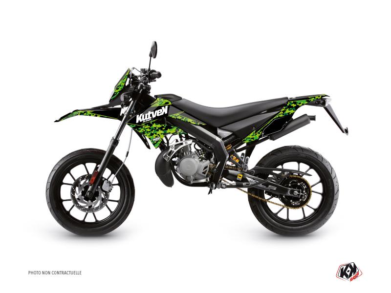 Derbi DRD Xtreme 50cc Predator Graphic Kit Black Green