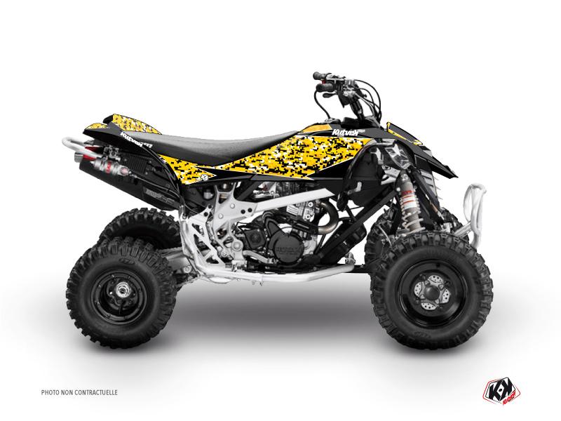 Can Am DS 450 ATV Predator Graphic Kit Black Yellow