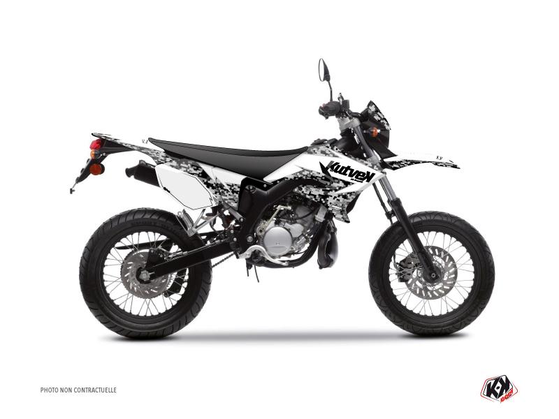Kit Déco 50cc Predator Yamaha DT 50 Blanc
