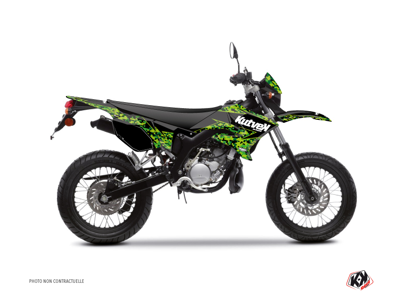 Kit Déco 50cc Predator Yamaha DT 50 Noir Vert