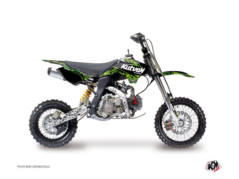 YCF F150 Dirt Bike Predator Graphic Kit Black Green