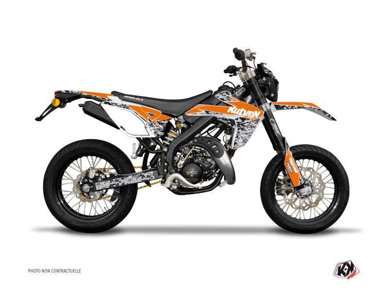Rieju MRT 50 50cc Predator Graphic Kit Orange
