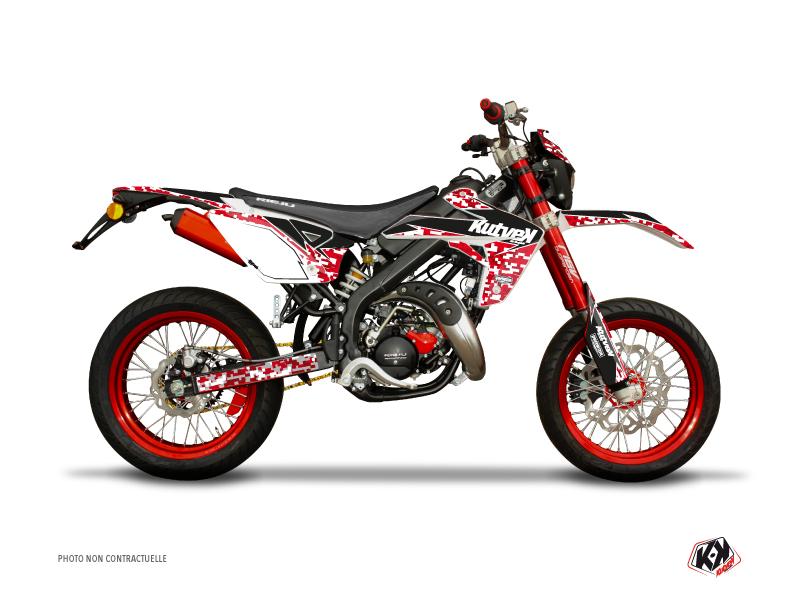 Rieju MRT 50 50cc Predator Graphic Kit Red