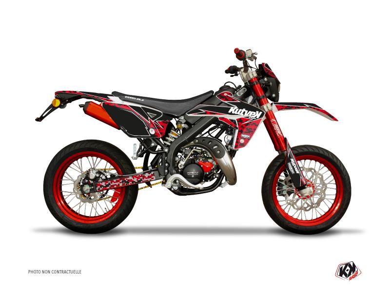Kit Déco 50cc Predator Rieju MRT 50 Rouge Noir