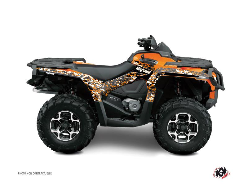 Can Am Outlander 1000 ATV Predator Graphic Kit Orange