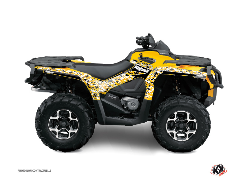 Can Am Outlander 500-650-800 XTP ATV Predator Graphic Kit Black Yellow