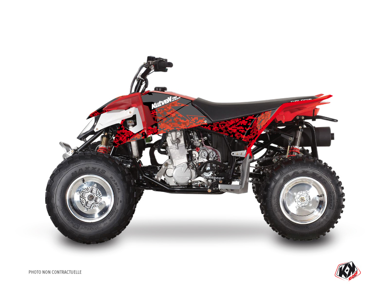 Polaris Outlaw 450 ATV Predator Graphic Kit Red Black