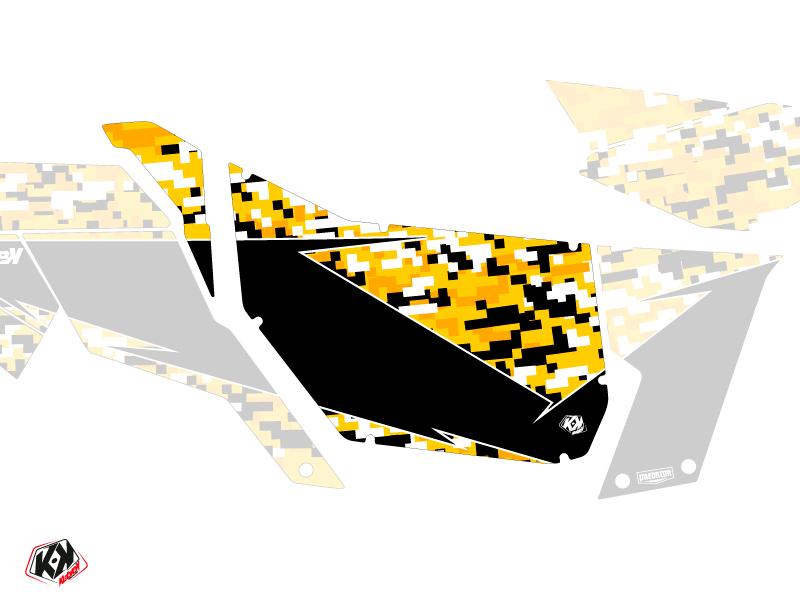 Kit Déco Portes Suicide Pro Armor Predator Can Am Maverick 2012-2017 Noir Jaune