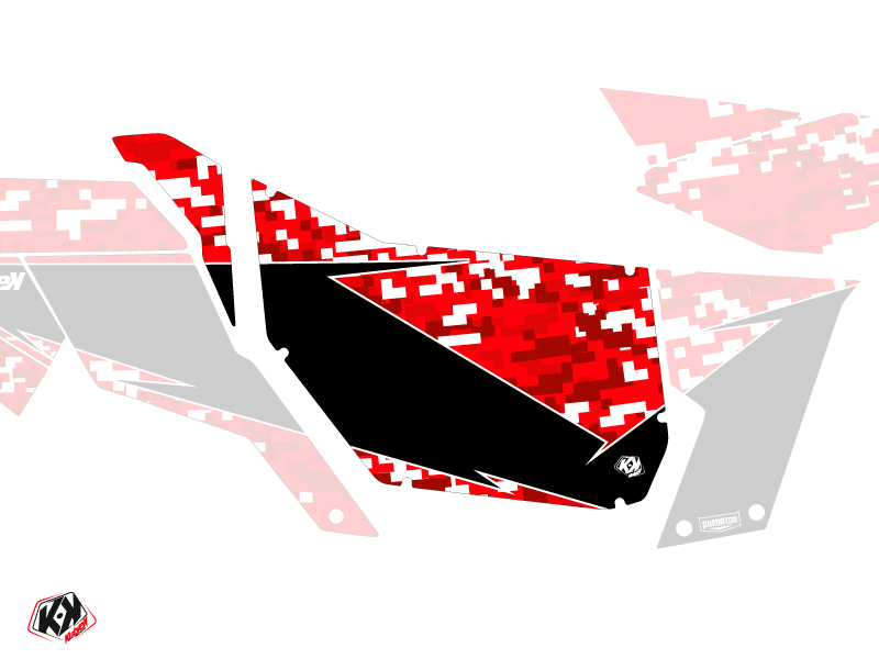 Graphic Kit Doors Suicide Pro Armor Predator Can Am Maverick 2012-2017 Red