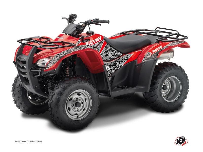 Honda Rancher 420 ATV Predator Graphic Kit Black Red