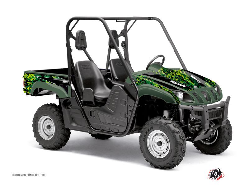 Yamaha Rhino UTV Predator Graphic Kit Black Green