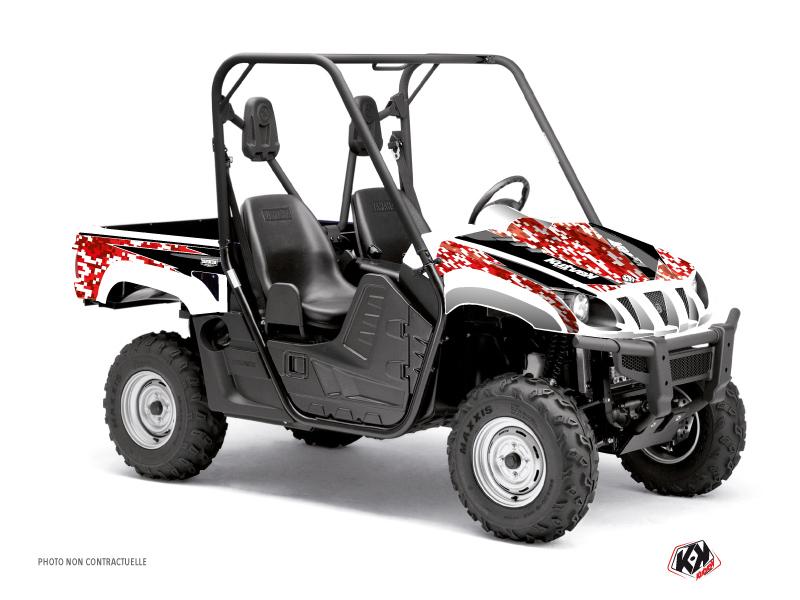 Yamaha Rhino UTV Predator Graphic Kit Red