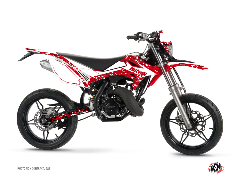 Beta RR 50 Motard 50cc Predator Graphic Kit White Red
