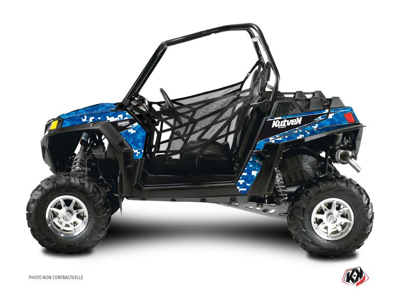 Polaris RZR 900 XP UTV Predator Graphic Kit Blue
