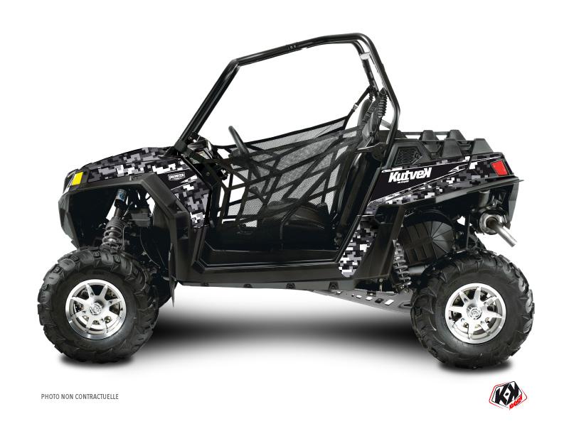 Polaris RZR 900 XP UTV Predator Graphic Kit Black