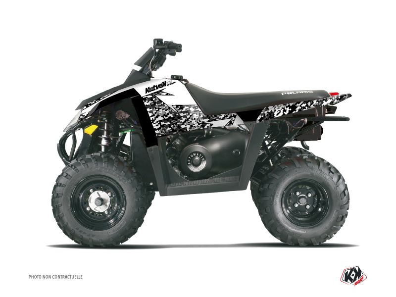 Polaris Scrambler 500 ATV Predator Graphic Kit White