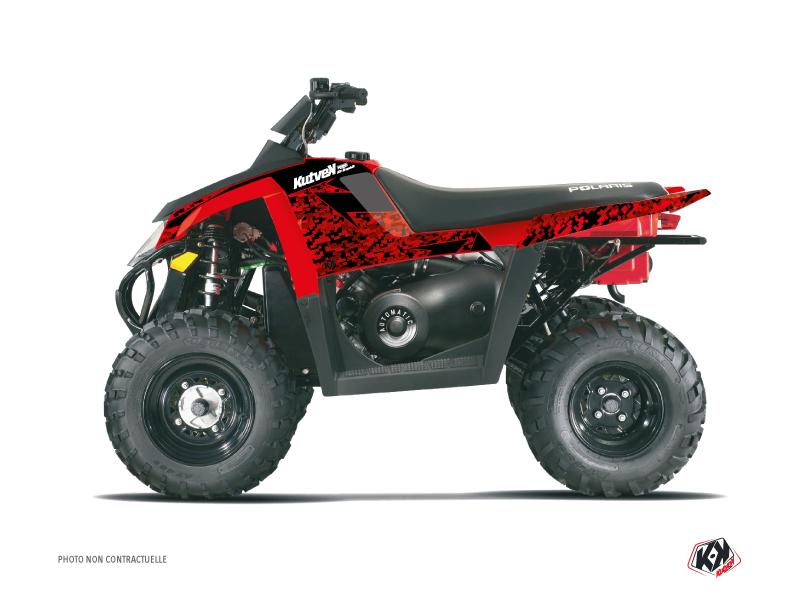 Polaris Scrambler 500 ATV Predator Graphic Kit Red Black