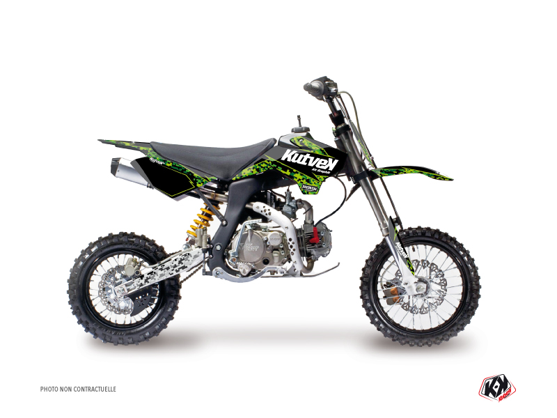 YCF SP Dirt Bike Predator Graphic Kit Black Green