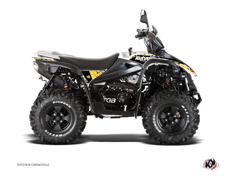 TGB Target ATV Predator Graphic Kit Black Yellow