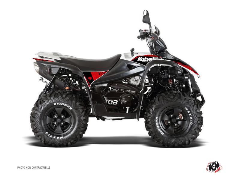 TGB Target ATV Predator Graphic Kit Red Black