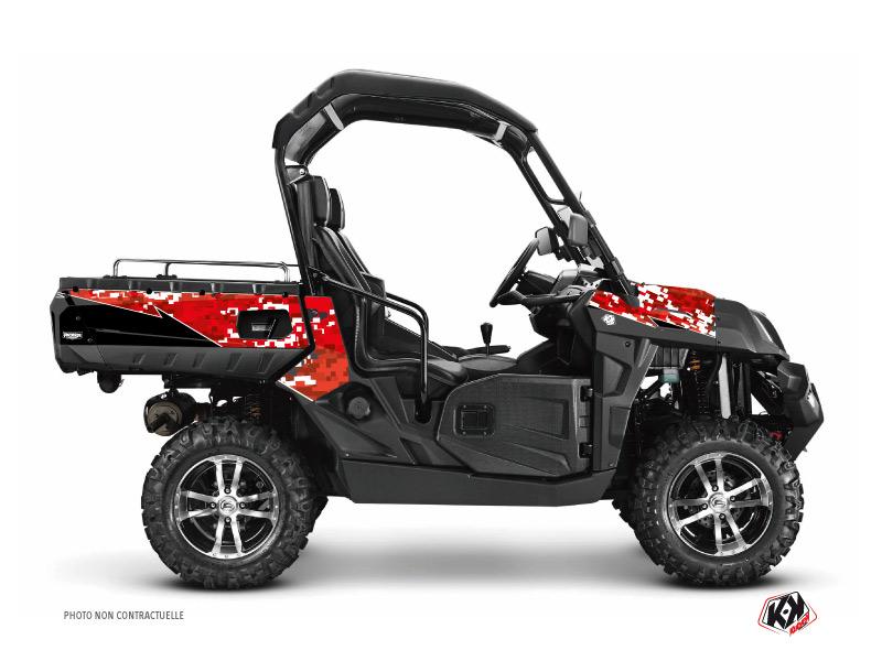 CF Moto U Force 800 UTV Predator Graphic Kit Red