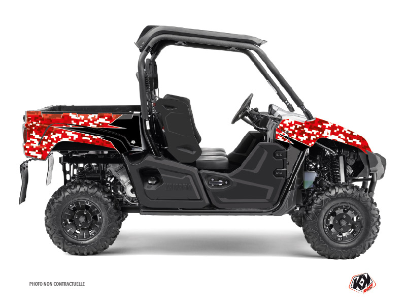 Yamaha Viking UTV Predator Graphic Kit Red