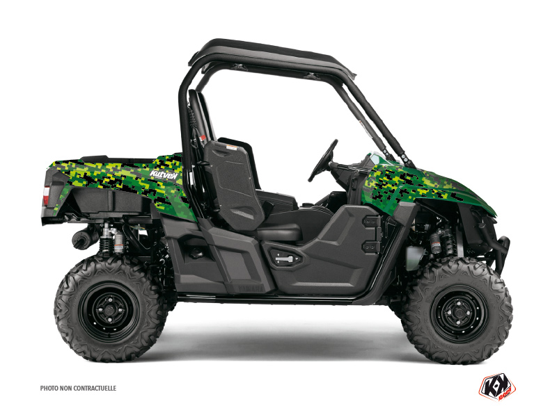 Yamaha Wolverine-R UTV Predator Graphic Kit Black Green