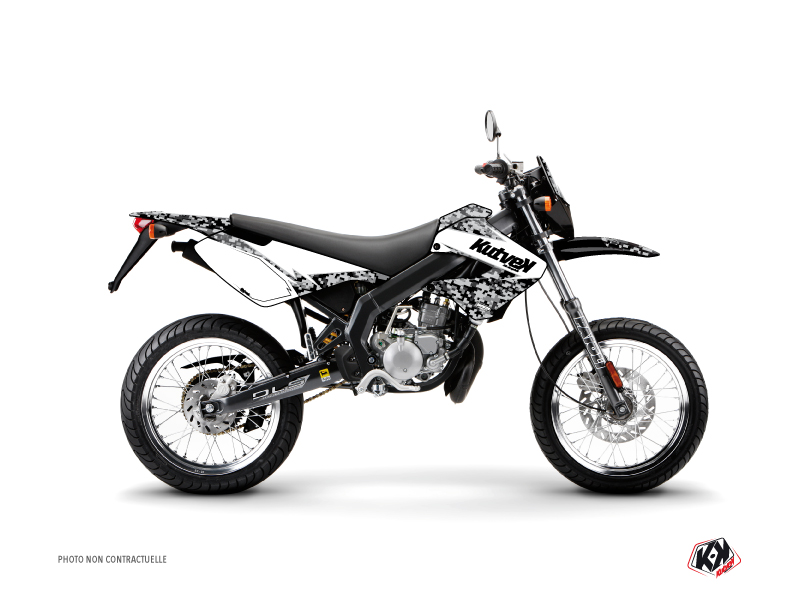 Derbi Xtreme / Xrace 50cc Predator Graphic Kit White