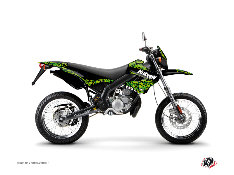 Derbi Xtreme / Xrace 50cc Predator Graphic Kit Black Green