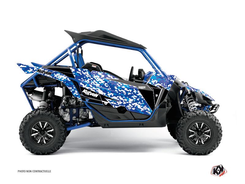 Yamaha YXZ 1000 R UTV Predator Graphic Kit Blue