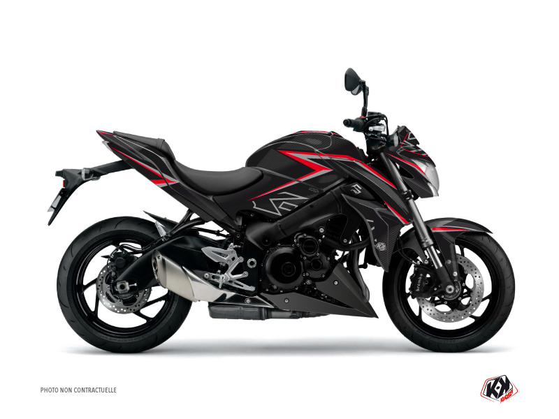 Suzuki GSX-S 1000 Street Bike Profil Graphic Kit Black Red