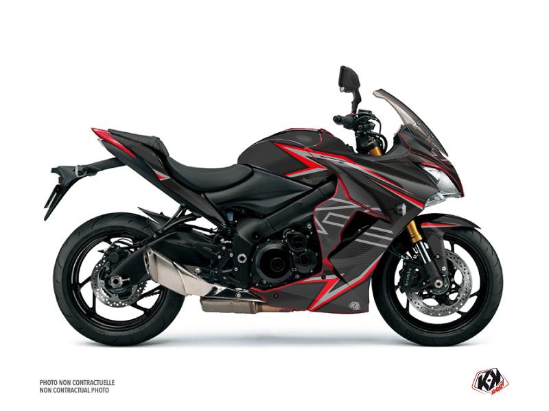 Suzuki GSX-S 1000 F Street Bike Profil Graphic Kit Black Red