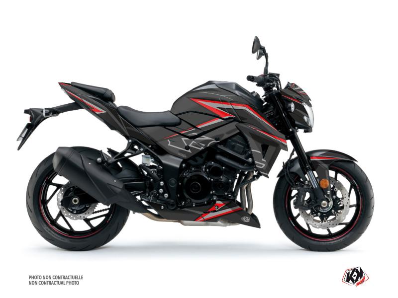 Suzuki GSX-S 750 Street Bike Profil Graphic Kit Black Red