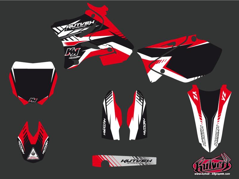Yamaha 125 YZ Dirt Bike Pulsar Graphic Kit Red