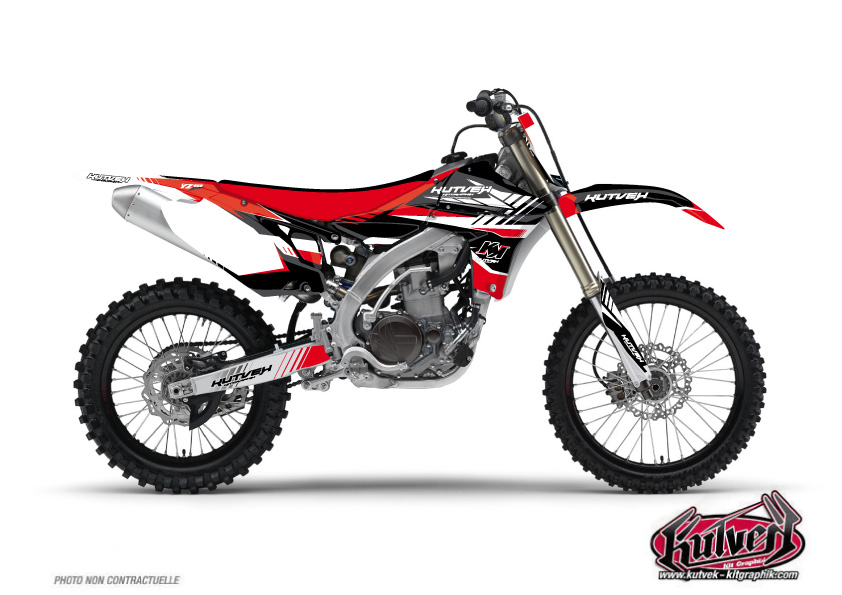 Yamaha 450 YZF Dirt Bike Pulsar Graphic Kit Red