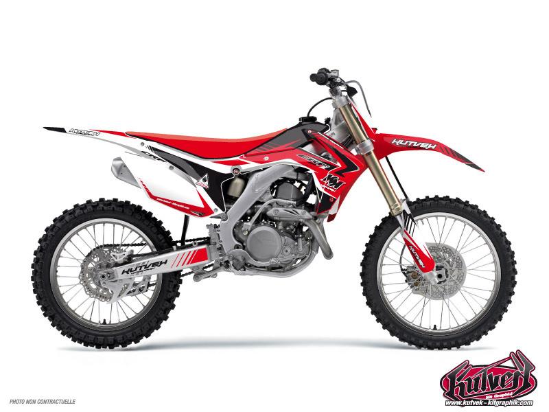 Honda 85 CR Dirt Bike Pulsar Graphic Kit Black