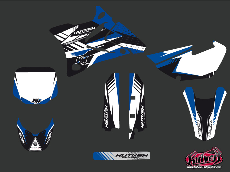 Yamaha 85 YZ Dirt Bike Pulsar Graphic Kit Blue