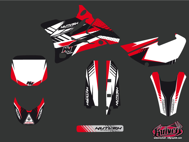 Yamaha 85 YZ Dirt Bike Pulsar Graphic Kit Red