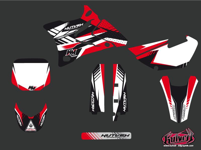Kit Déco Moto Cross Pulsar Yamaha 85 YZ Rouge