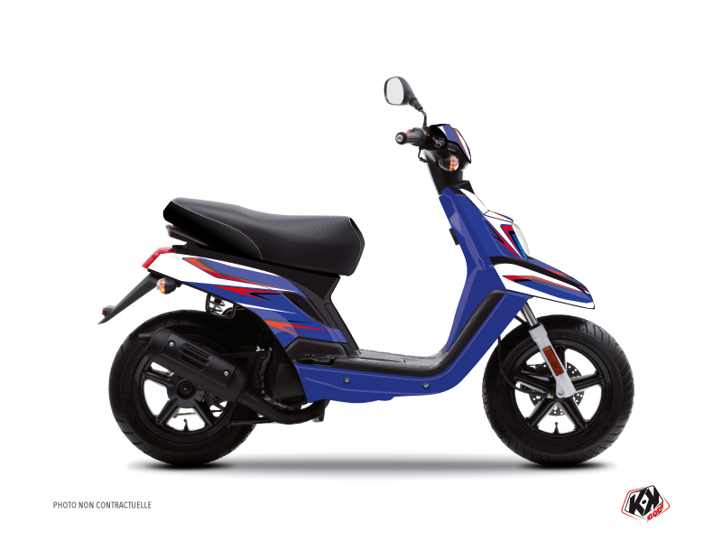MBK Booster Scooter Race Graphic Kit Blue