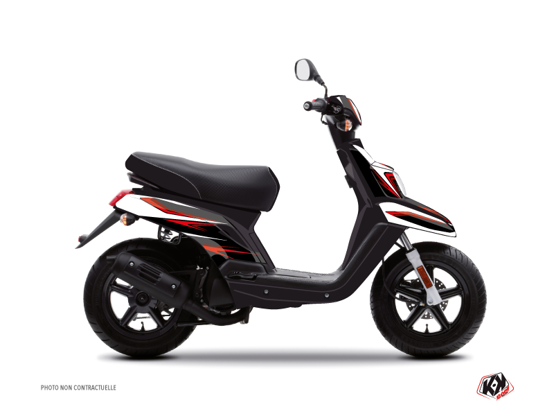 MBK Booster Scooter Race Graphic Kit Red