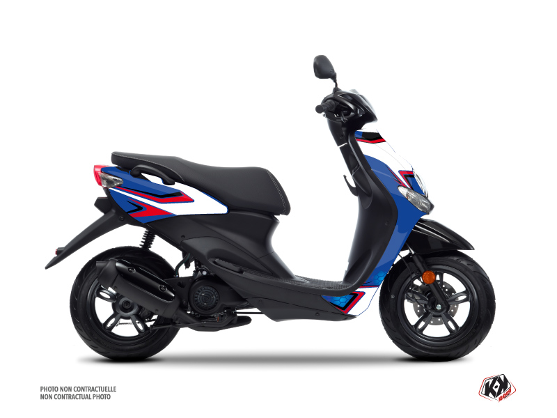 Yamaha NEOS Scooter Race Graphic Kit Blue