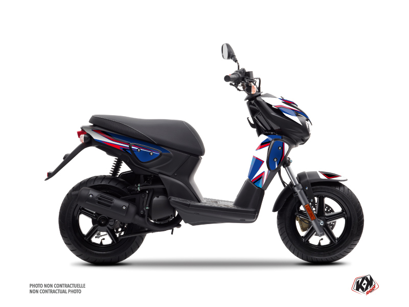 MBK Stunt Scooter Race Graphic Kit Blue