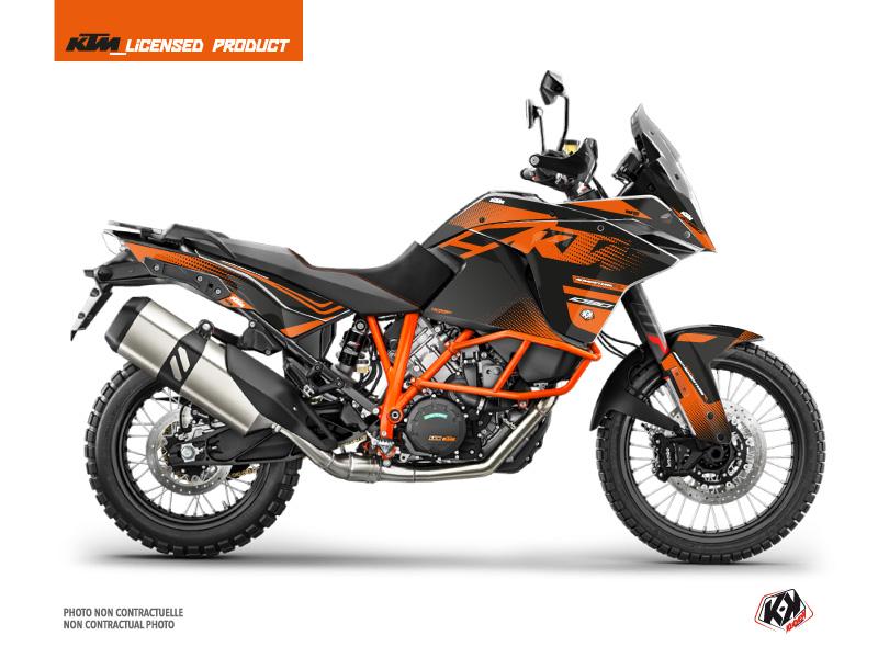 KTM 1090 Adventure R Street Bike Raster Graphic Kit Black Orange