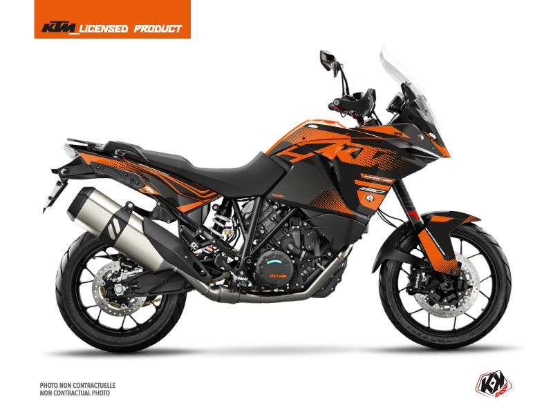 KTM 1190 Adventure Street Bike Raster Graphic Kit Black Orange