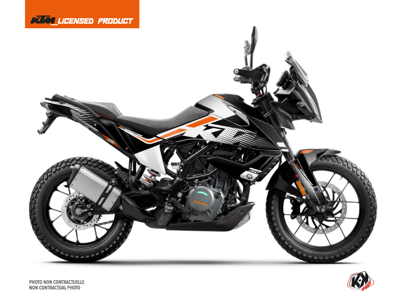 KTM 390 Adventure Street Bike Raster Graphic Kit Black White